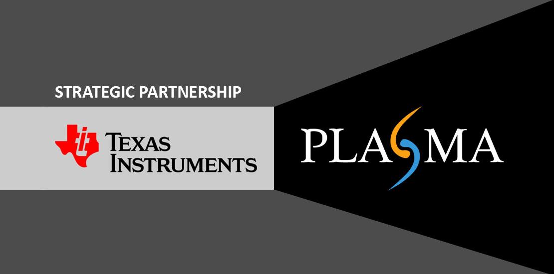 Plasma IoT cloud partnership Texas Instruments
