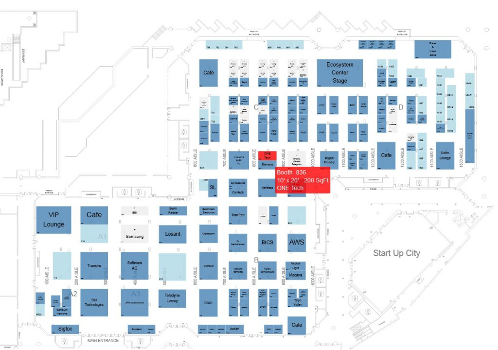 onetech iot world 2019 floor-plan