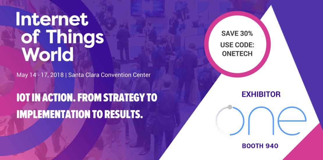 OneTech is attending IoT world 2018 Santa Clara